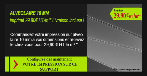 Impression grand format alveolaire
