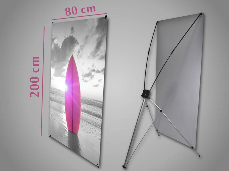 x banner 80 x 200 cm visuel de 75 x 190 cm soprinter le sp cialiste de l 39 impression. Black Bedroom Furniture Sets. Home Design Ideas